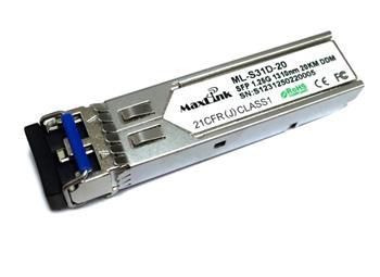 MaxLink 1.25G SFP optický modul, SM, 1310nm, 20km, 2x LC konektor, DDM, Cisco compatible