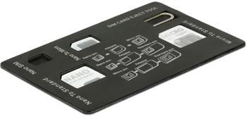 Delock 4 v 1 SIM karta sada adaptérů