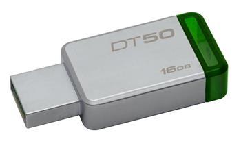 KINGSTON 16GB USB 3.0 DataTraveler 50 (Kovový/Zelený)