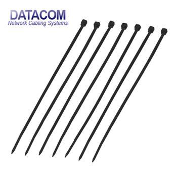 DATACOM Stahovací páska (2.5x200) černá 100ks