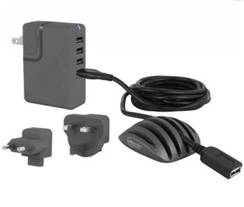ARCTIC Nabíjecí stanice charger PRO 4 multi; kabelový organizér; USB prodlužovací kabel