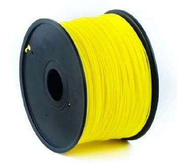 GEMBIRD Tisková struna (filament), PLA, 1,75mm, 1kg, žlutá