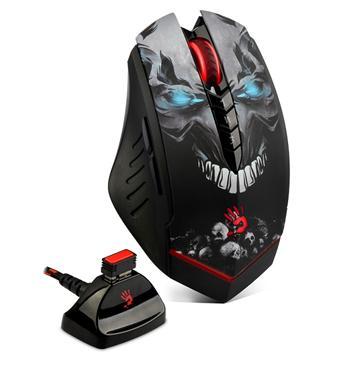 A4tech BLOODY R80A, bezdrátová herní myš, rozlišení až 3200DPI, černá, USB, CORE 3