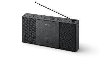 SONY ZS-PE60 Radiomagnetofon s CD, USB a digitálním FM tunerem - černá