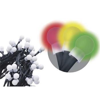 Emos LED dekorační řetěz 200 LED TIMER CHERRY 20m IP44 MC, multicolor