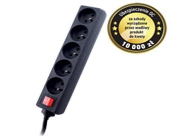 GEMBIRD Surge protector TRACER Power Patrol 1.8 m Black (5 outlets)