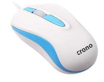 Crono CM642 - optická myš, USB, modrá + bílá