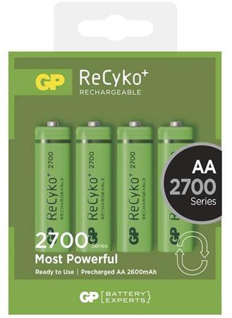 GP AA ReCyko+ 2700 series, nabíjecí, 4 ks