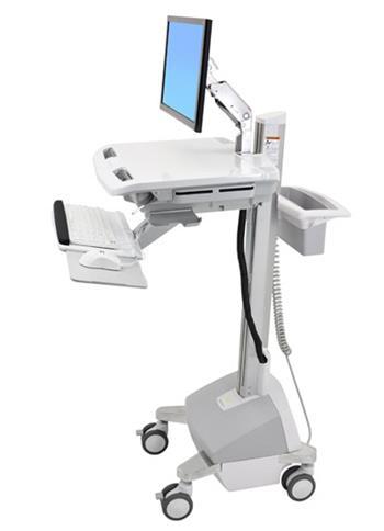 ERGOTRON StyleView® Cart with LCD Arm, Powered, pojízdný vozík s napájením, rameno pro LCD, kláv.