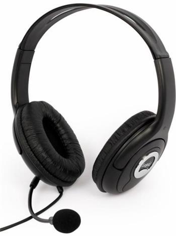 Modecom Logic LH-30 headset, herní sluchátka s mikrofonem, černá