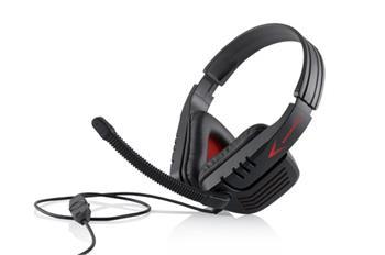 Modecom MC-823 RANGER headset, herní sluchátka s mikrofonem, černo-červená