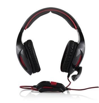 Modecom MC-830 PATRIOT headset, herní sluchátka s mikrofonem, černo-červená