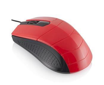 Modecom Logic LM-13 drátová optická myš, 3 tlačítka, 1000 DPI, USB, černo-červená