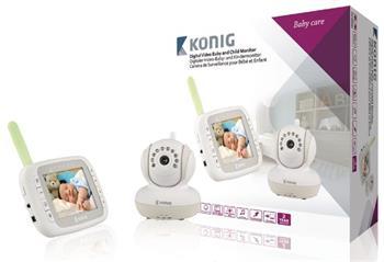 König KN-BM80 - dětské videochůvička, LCD3.5