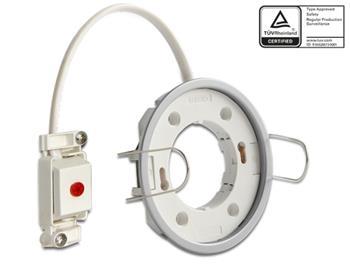 Delock Lighting GX53 recess mount base round type E silver