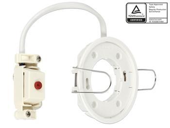Delock Lighting GX53 recess mount base round type E white
