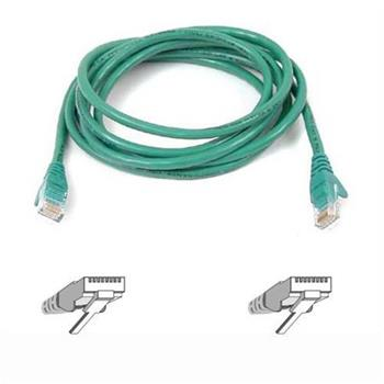 Belkin kabel PATCH UTP CAT5e 3m zelený, bulk Snagless