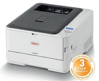 OKI C332dn, A4, 30/26 ppm, ProQ2400 dpi, 1GB RAM, PCL+PS, USB 2.0 + LAN, duplex