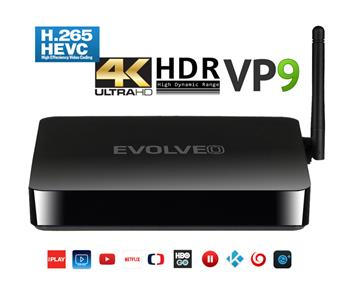 EVOLVEO Android Box H4, Quad Core 4K multimediální centrum