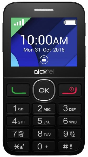 ALCATEL 2008G Black/Metal Silver