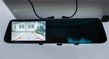 CEL-TEC M6 DUAL - duální palubní kamera ve zpětném zrcátku, Full HD, microSDXC, WDR, asistenti, 5