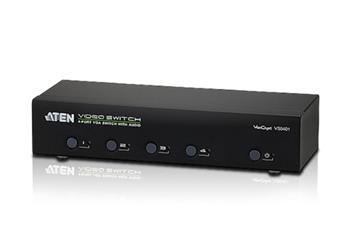ATEN VS0401-AT-G 4 PORT VGA Switch with Audio W/EU ADP