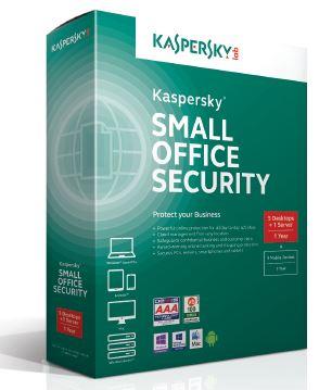 Kaspersky Small Office Security 5 CZ, 5-9 PC, 1 Server + zdarma 5-9 Android, 3 roky, nová licence, elektronicky