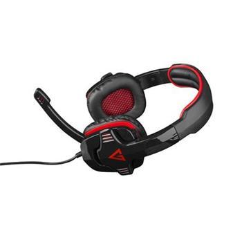 Modecom MC-829 ALIEN RED headset, herní sluchátka s mikrofonem, 2x 3,5mm konektor, 2,2m kabel, černá/červená