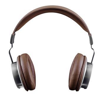 Modecom MC-1500HF sluchátka s mikrofonem, 1,3m kabel, 3,5mm jack, kov, stříbrná/hnědá