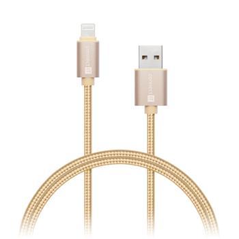 CONNECT IT Wirez Premium Metallic Lightning - USB, gold, 1m