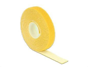 Delock Hook-and-loop fasteners L 3 m x W 13 mm roll yellow