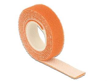 Delock Hook-and-loop fasteners L 1 m x W 13 mm roll orange