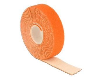 Delock Hook-and-loop fasteners L 3 m x W 20 mm roll orange