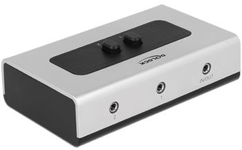 Delock Switch Stereo Jack 3.5 mm 2 portový manuální obousměrný