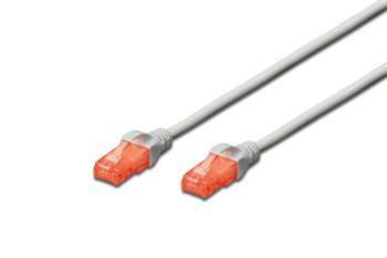 Digitus Patch Cable, CAT 6 UTP, AWG 26, LSZH, měď, šedý 5m