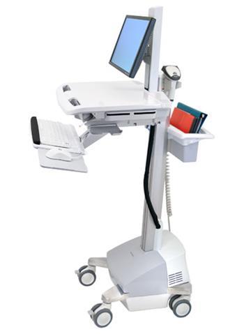 ERGOTRON StyleView® Cart with LCD Pivot, SLA Powered, pojízdný vozík s napájením, držák pro LCD, klávesnice, scanner