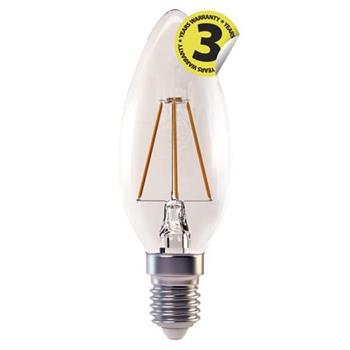 Emos LED žárovka CANDLE, 4W/37W E14, WW teplá bílá, 420 lm, Filament A+