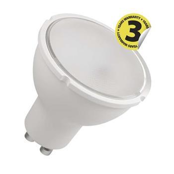 Emos LED žárovka MR16, 6W/42W GU10, WW teplá bílá, 510 lm, stmívatelná (přes vypínač), Premium A+