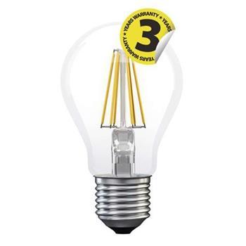Emos LED žárovka Classic A60, 8W/75W E27, WW teplá bílá, 1055 lm, Filament A++