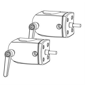 ERGOTRON DS100 OUTBOARD POLE CLAMPS, úchytky pro lištu ke spojení dvou držáků
