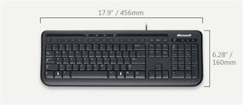 Wired Keyboard 600 USB Port CS/SK Black