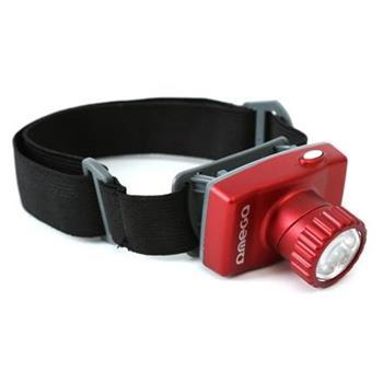 OMEGA čelovka 8*LED červená