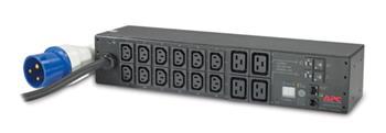 APC Rack PDU, Metered, 2U, 32A, 230V, IEC309 32A 2P+E -> (12) C13S & (4) C19