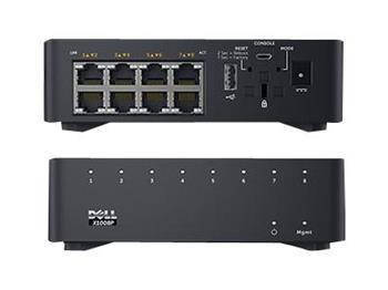 Dell Networking X1008 Smart Web Managed Switch 8x 1GbE ports AC or POE powered/X1008X1008P Limited Lifetime Hardware Warranty - Mi