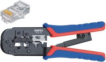 Knipex 97 51 10 SB - Krimpovací pákové kleště RJ11/12 (6-pin) 9.65 mm, RJ45 (8-pin)11.68 mm