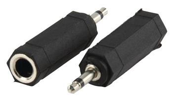 Valueline AC-004 - Mono Audio adaptér 3.5mm zástrčka - 6.35mm zásuvka, černá