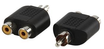 Valueline AC-016 - Mono Audio adaptér CINCH zástrčka - 2x CINCH zásuvka, černá