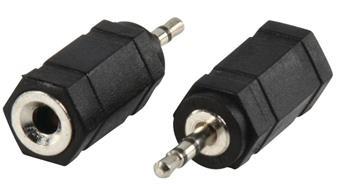 Valueline AC-018 - Stereo Audio adaptér 2.5mm zástrčka - 3.5mm zásuvka, černá