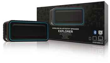 Sweex AVSP5200-07 - Bluetooth Reproduktor 2.0 12 W Vestavěný Mikrofon, černá/Modrá