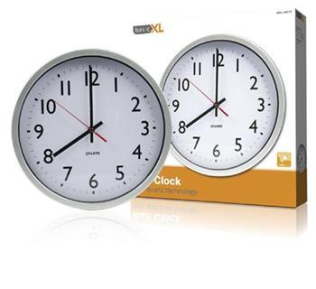 basicXL BXL-WC10 - Nástěnné Hodiny 30 cm Analogový Bílá/Stříbrná